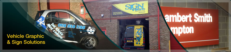 Sign Here Reading Commercial Signage Vehicle Livery